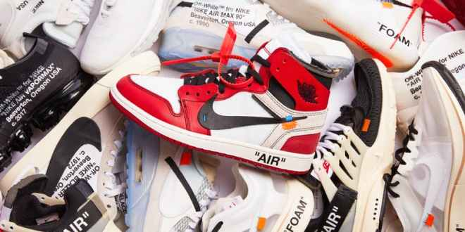 Image of sneakers by Virgil Abloh used as flyer for panel discussion. Featured in Chicago April  2019 Events Guide by The Haute Seeker