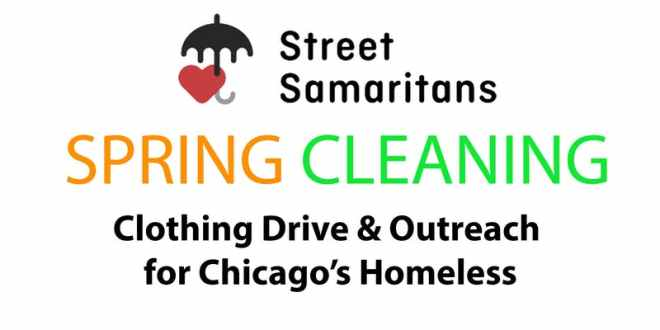 Flyer for Spring Cleaning by Street Samaritan featured in the april 11th - 14th 2019 weekend seekers guide of things to do on The Haute Seeker.