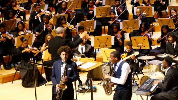 Students in an orchestra from the South Side Chicago Youth Orchestra feature in The Haute Seeker Weekend Guide of Things to Do in Chicago