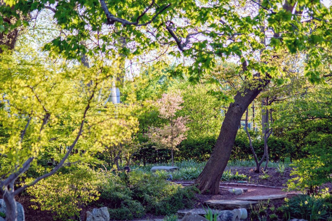 Garden of the Phoneix Chicago featured in Secret Parks and Gardens in Chicago by The Haute Seeker