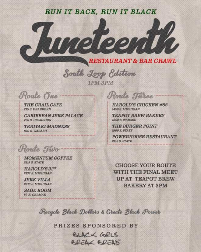 Black Girls Break Bread Juneteenth  Black Business Crawl South Loop as featured on The Haute Seeker