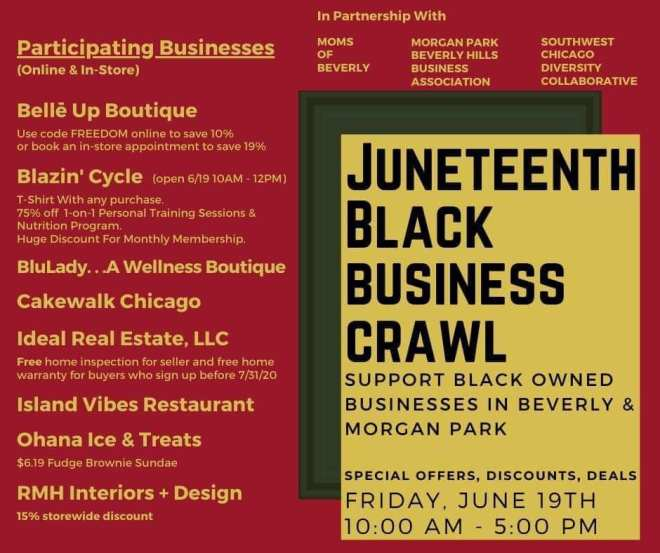 Juneteenth black business crawl Chicago Beverly and Morgan Park  as featured on The Haute Seeker