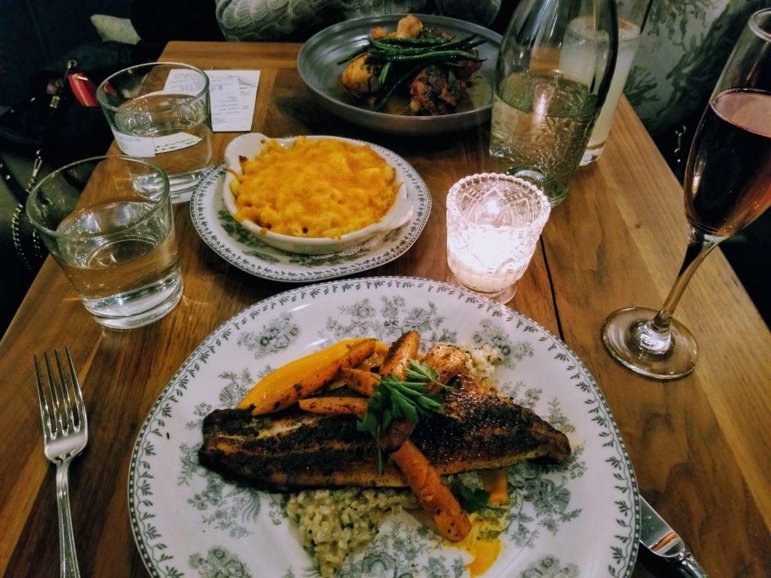 Soul food dinner at Black-owned Virtue Restaurant Chicago