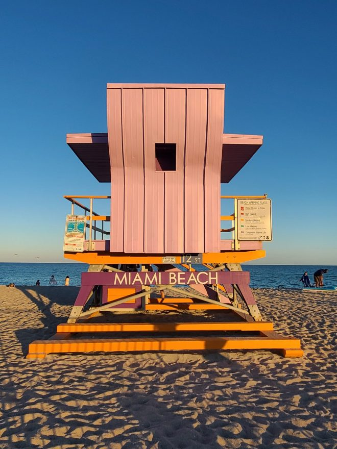 Lifeguard station at Miami beach The Haute Seeker