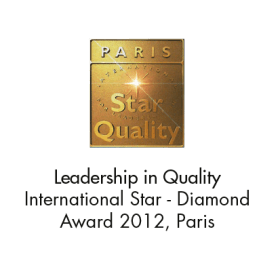 Leadership in Quality (International Star Diamond Award 2012, Paris)