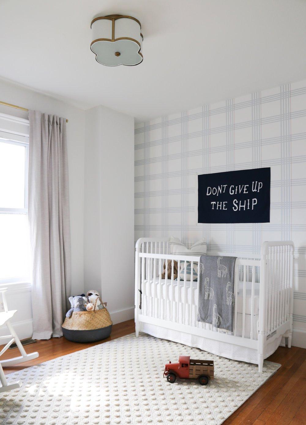 a baby boy nursery