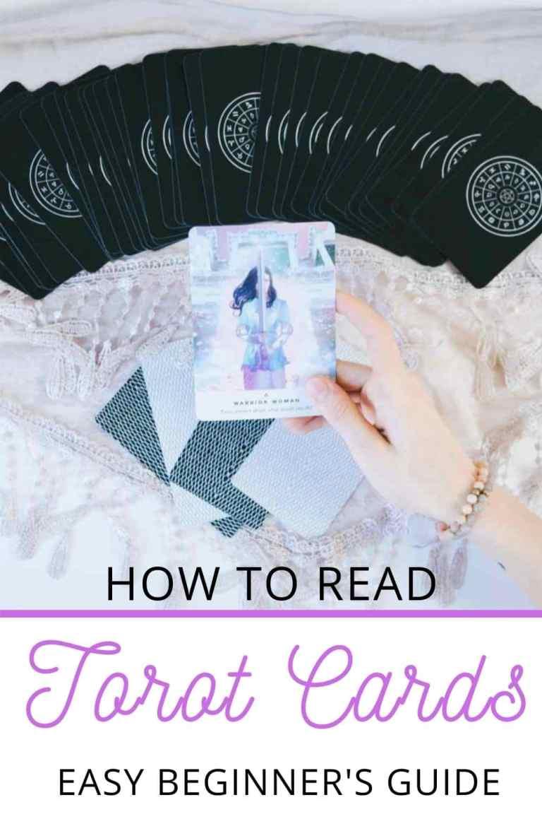 how to read tarot cards pin