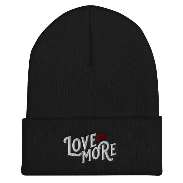 'love more' inspirational hat