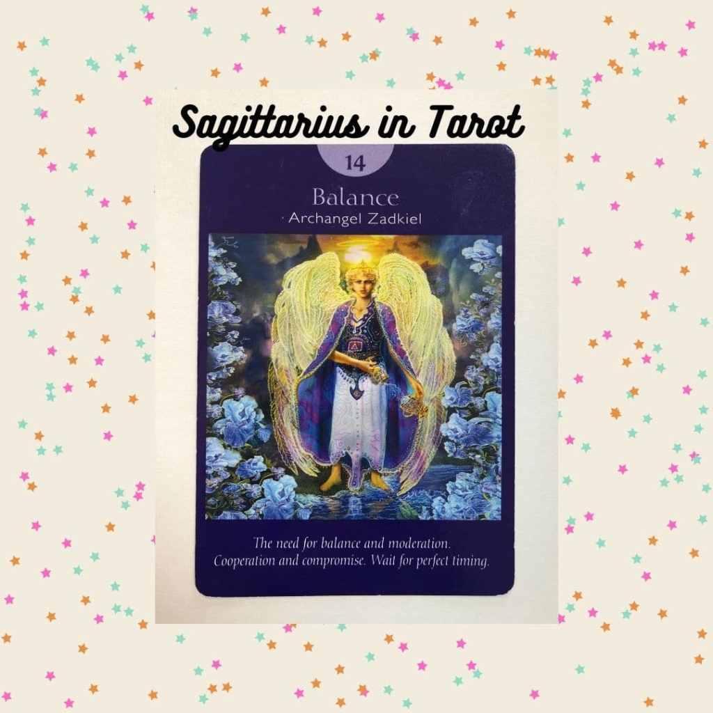 Balance tarot card from Radleigh Valentine's Angel Tarot deck