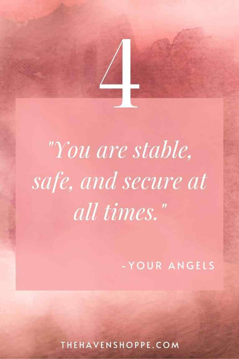 pinnable angel number 4 message