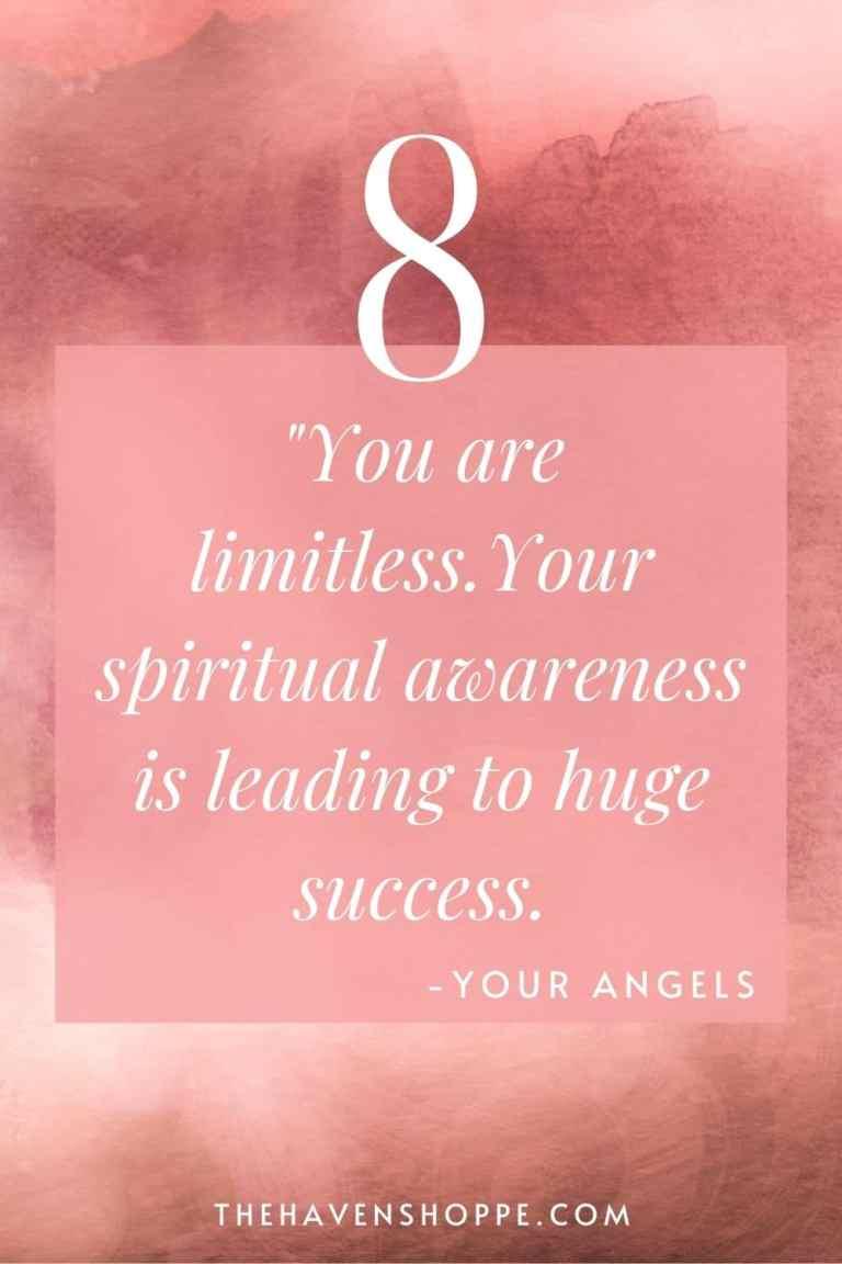 pinnable angel number 8 message