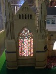 Stained glass windows all made from standard Lego bricks