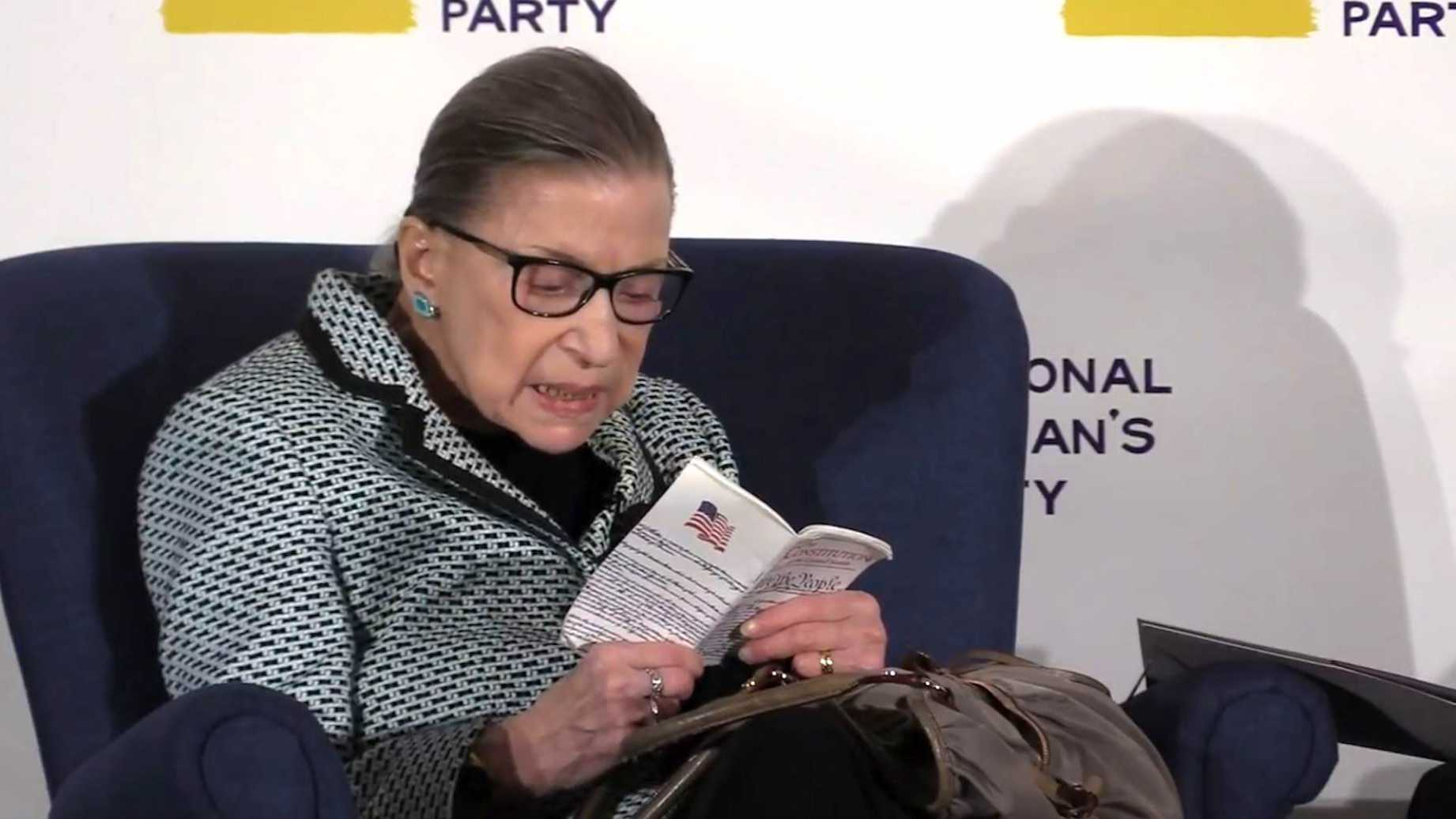 Trumps next replacement Ginsburg who doesnt know what the 14th Amendment says video