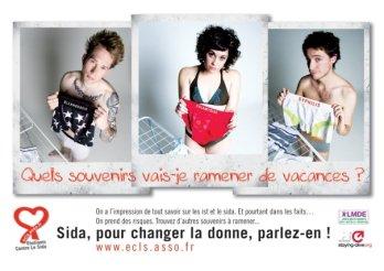 """Visuel campagne ECLS """"Sida, pour changer la donne, parlez-en !"""", Été 2008"""