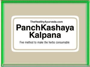 Panchavidha Kashaya Kalpana