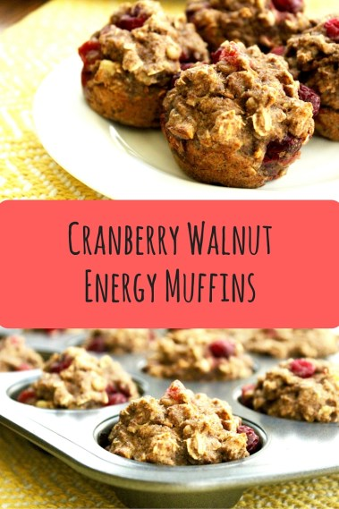 Cranberry Walnut Energy Muffins