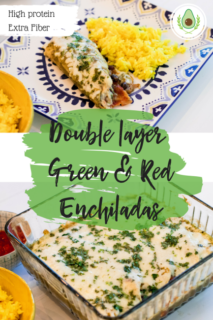 Double layer Green & Red Enchiladas