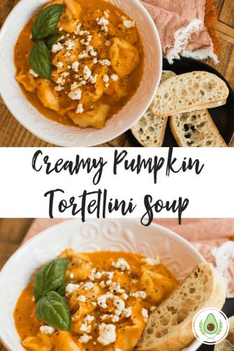 Creamy PumpkinTortellini Soup