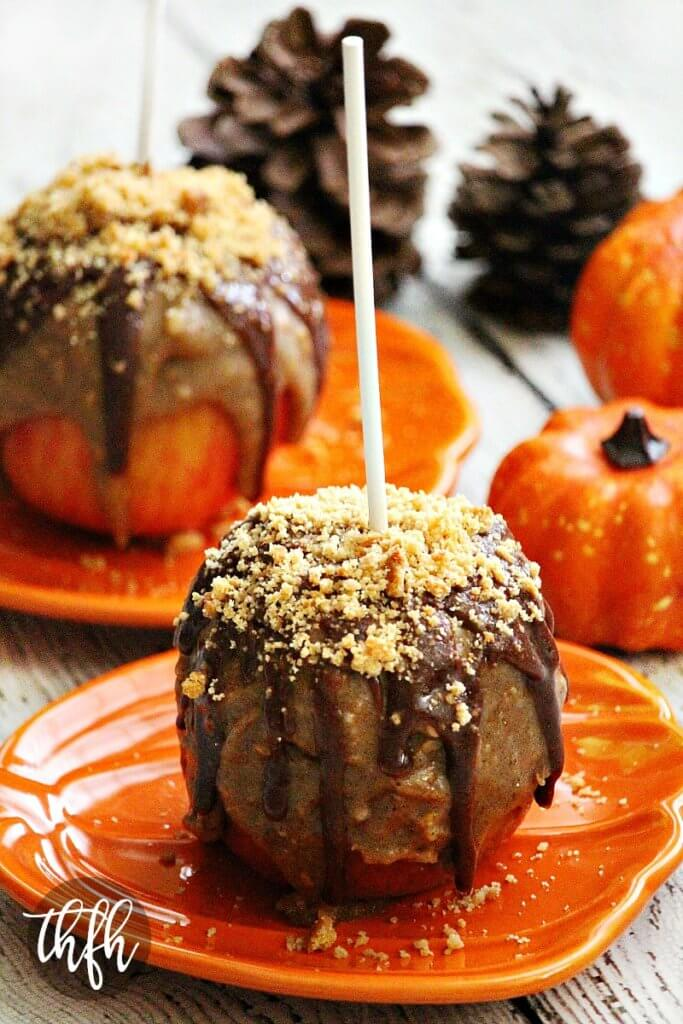 Vegan Peanut Butter Cookie Caramel Apples