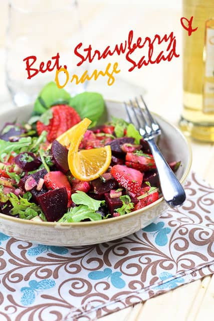 beet strawberry and orange salad by sonia the healthy foodie