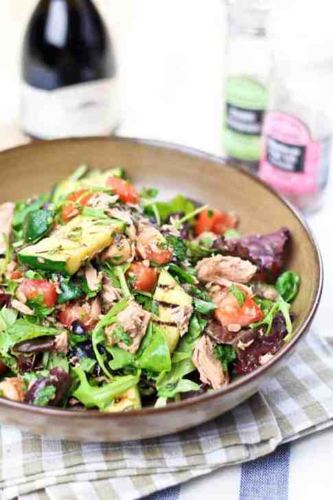 Simple Tuna Fish and Grilled Zucchini Salad | by Sonia! The Healthy Foodie