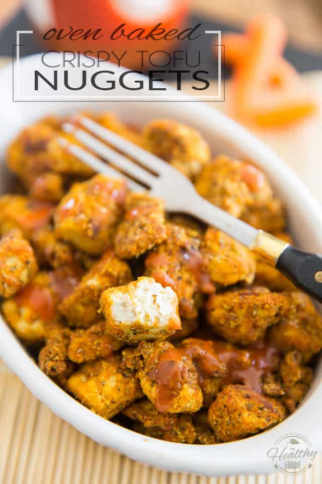 These Oven Baked Crispy Tofu Nuggets are so super yummy and versatile, too! You'll want to stuff them in a wrap or sandwich, pile them on top of your favorite salad, make them the star of your next Buddha bowl, or just plain pop 'em like popcorn, with your favorite dipping sauce!