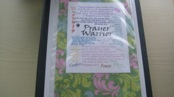 Prayer notebook