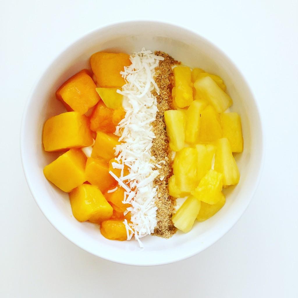 tropical yogurt bowl