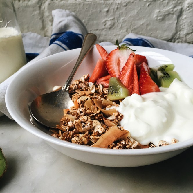 Nut Free Muesli with Yoghurt and berries