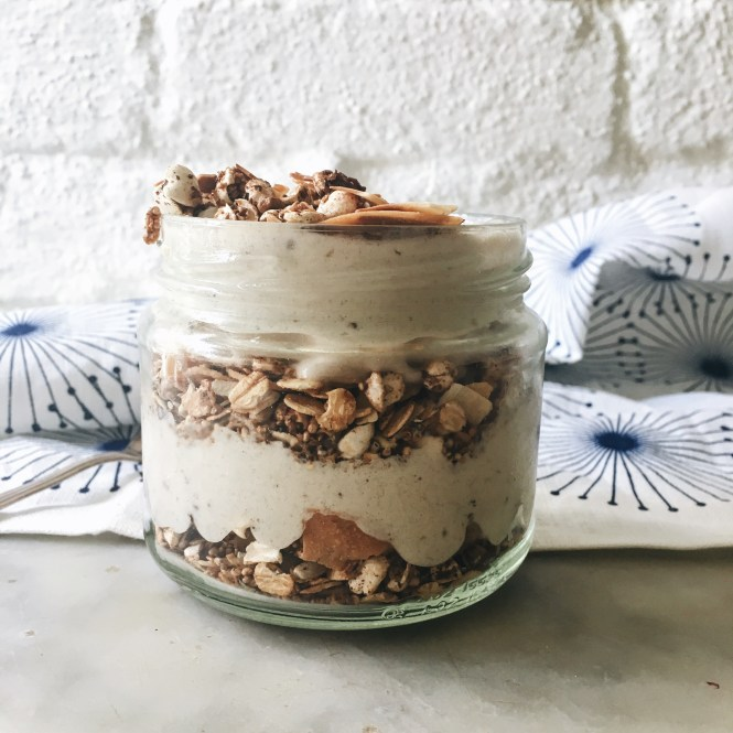 Nut free muesli with Banana Parfait 2