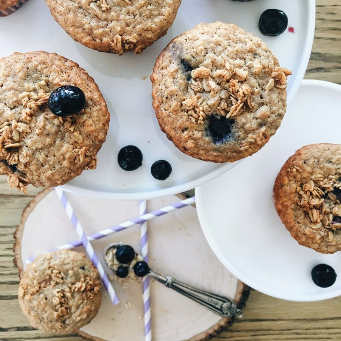 Blueberry and Oat Breakfast muffins 2