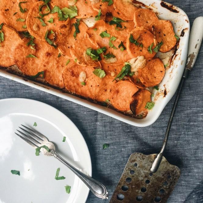 Sweet Potato and Cauliflower Gratin 2