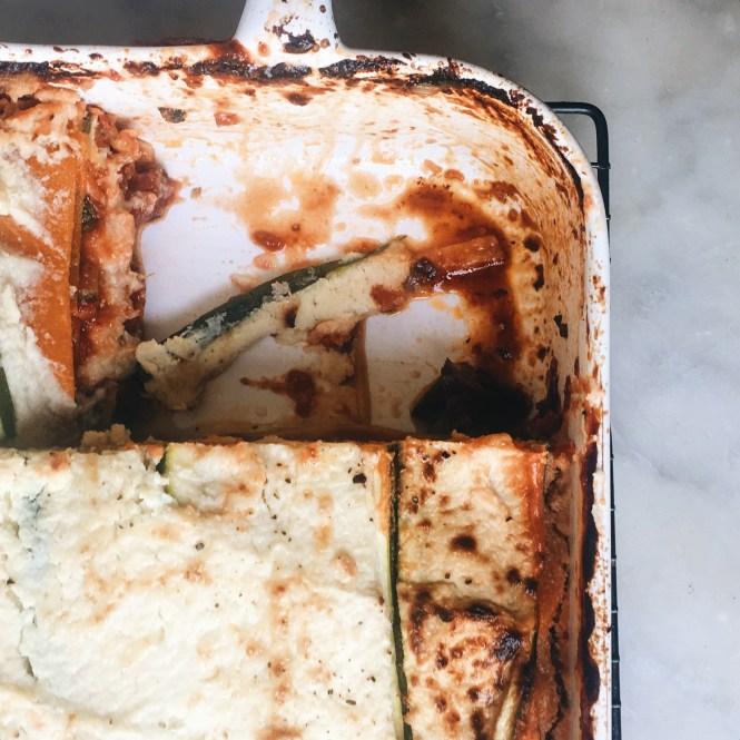 Vegetatrian lasagne with eggplant ragu and cauliflower sauce 1