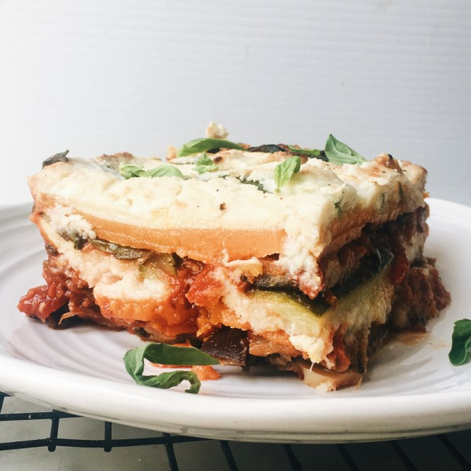 Vegetarian lasagne with eggplant ragu and cauliflower sauce 6