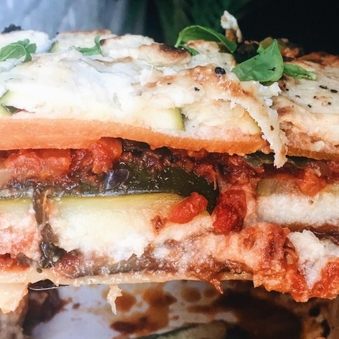 Vegetatrian lasagne with eggplant ragu and cauliflower sauce 5