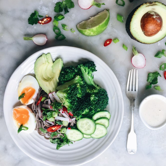 Soba noodles with tahini dressing 9