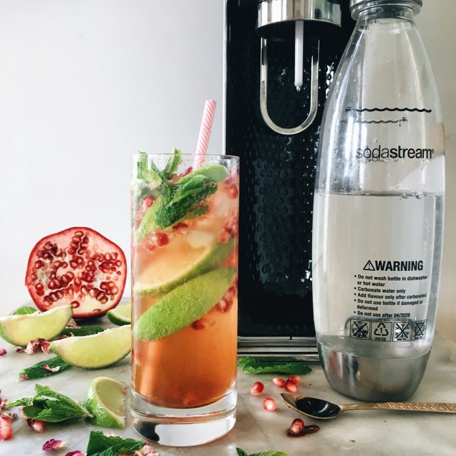 POMEGRANATE, MINT AND ROSE SPRITZ 6