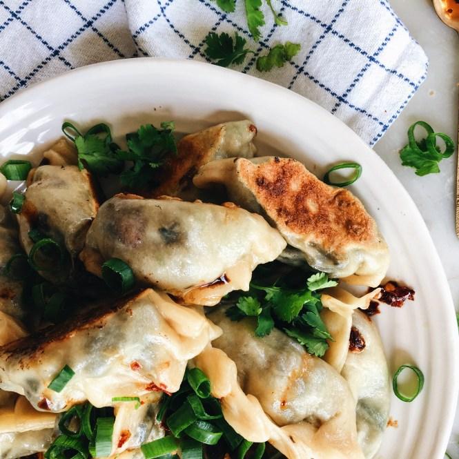 Mushroom and spring onion dumplings 3