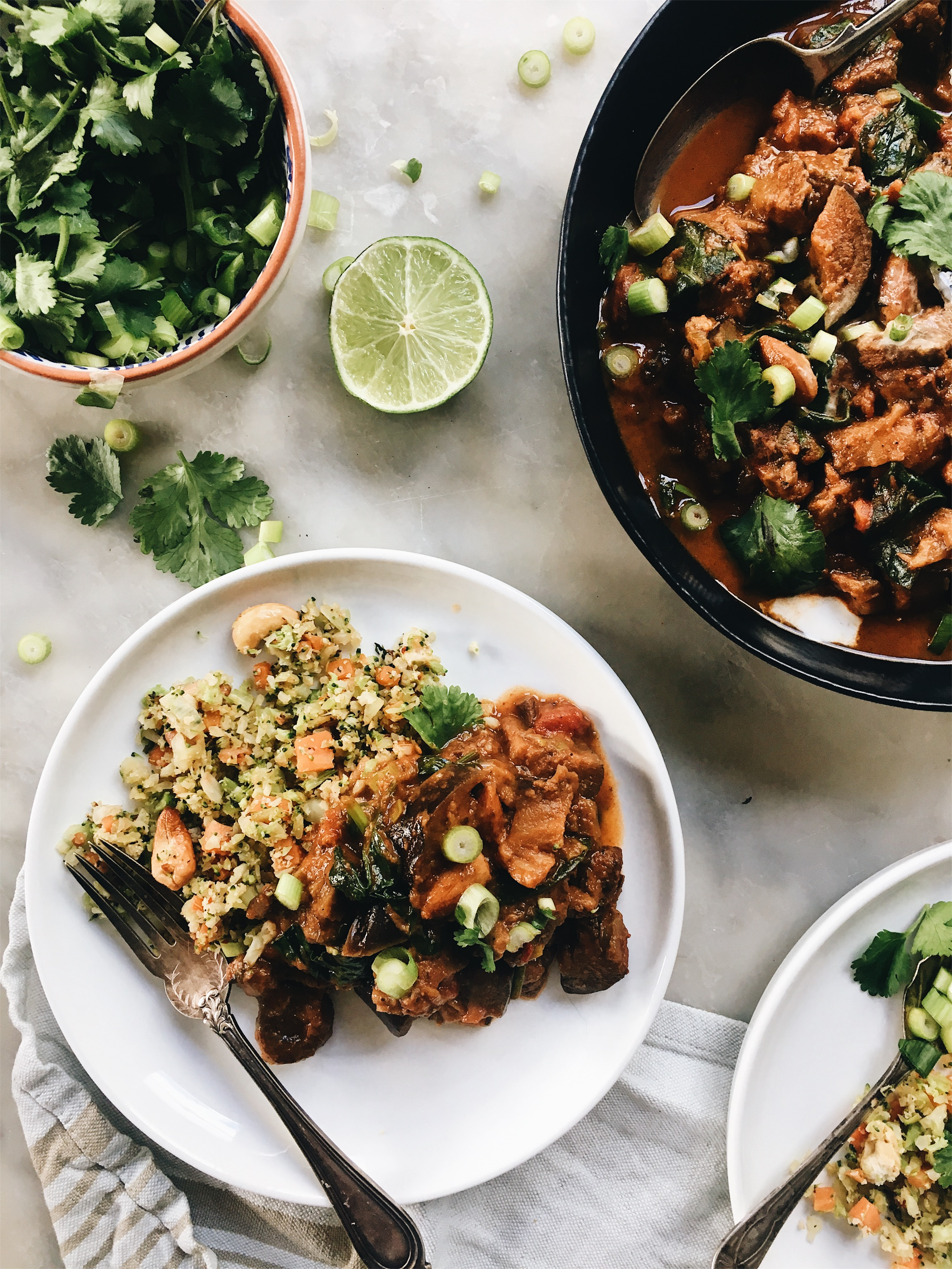 LAMB, EGGPLANT AND ALMOND CURRY | The Healthy Hunter