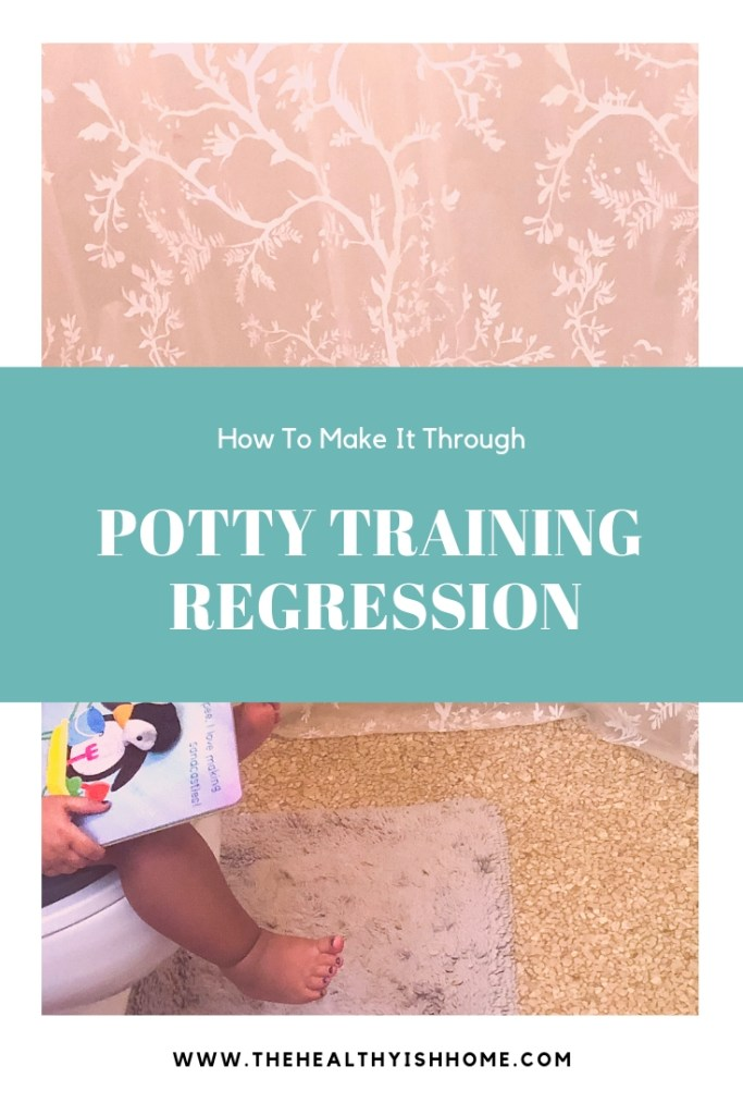Potty training regression is extremely normal especially for how young Baby T was, but that doesn't make it less frustrating. Here are the steps I took to help solves Baby T's potty training regression..  #pottytraining #pottyregression #toddlerlead