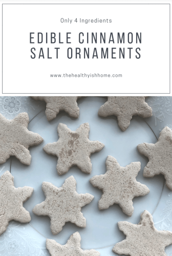 They are extremely easy to make, smell good and a great sensory activity. I wanted them to work with the ingredients I had on hand and be edible/non-toxic. The solution was a cinnamon salt dough ornament. #diyornament #sensoryactivity #saltdough