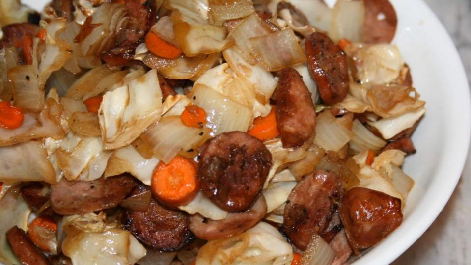 Cabbage and Sausage One Pan Meal