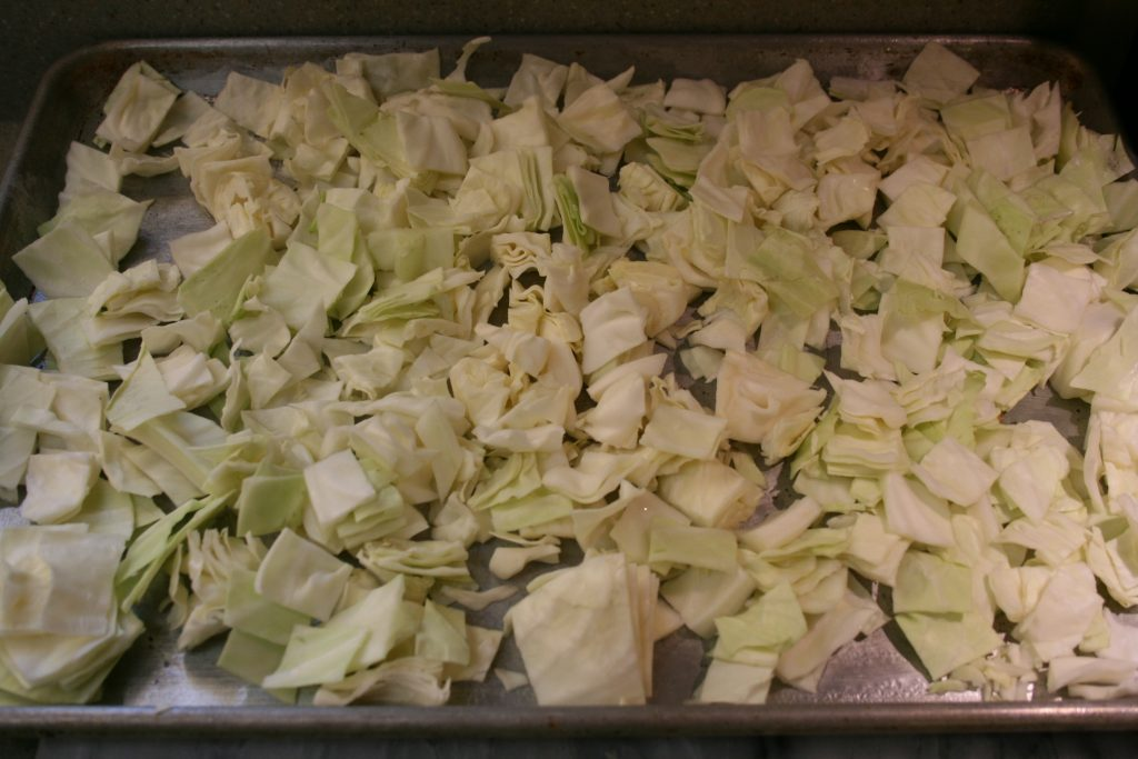 Uncooked cabbage