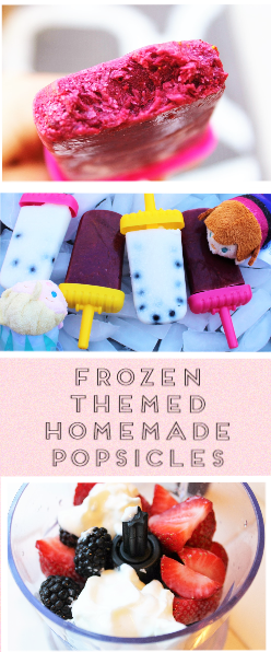 Disney's Frozen Themed Homemade Popsicles - All-Natural and easy to make, healthy popsicles