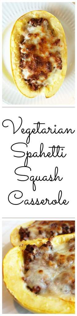 21 Day Fix approved, vegetarian spaghetti squash casserole recipe