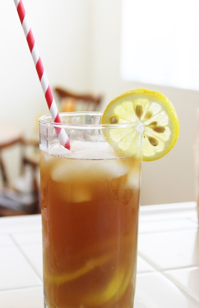 Skinny Honey Lemon iced tea recipe, inspired by Big Hero 6