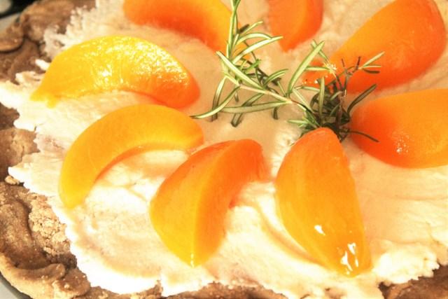 Rustic Rosemary Peach Tart