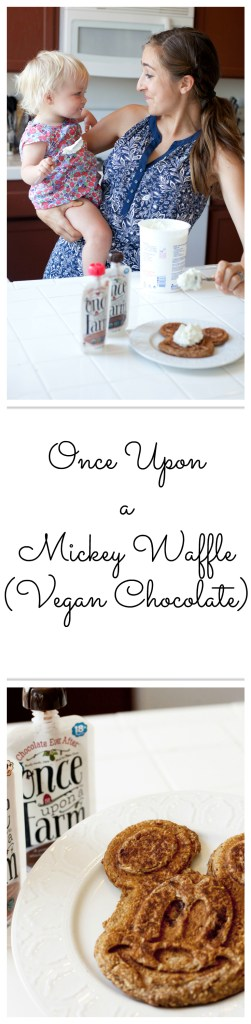 Once Upon a Mickey Waffle: Vegan Chocolate Waffles for the whole family, using Once Upon a Farm purees!