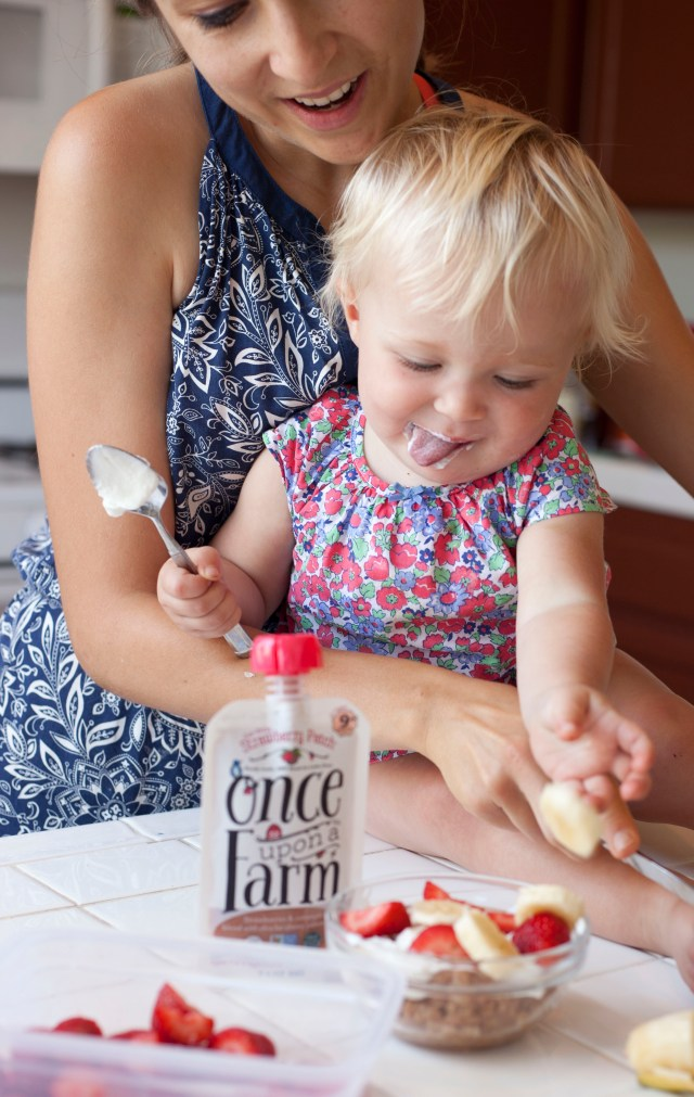 How to get your toddlers to love whole fruits and veggies, using Once Upon a Farm!