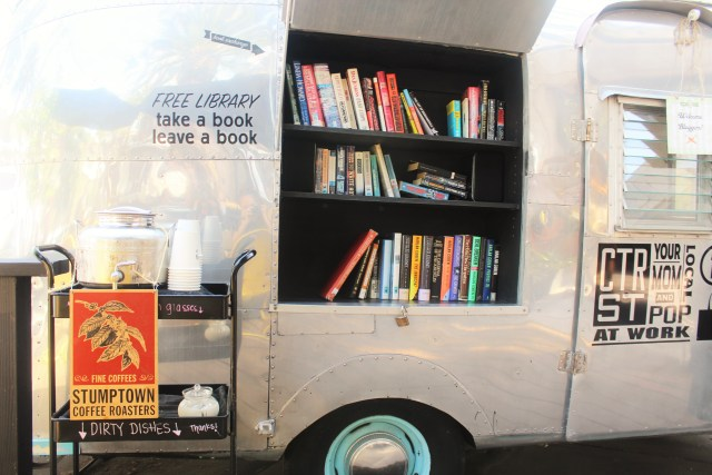 Free library outside of Ink & Bean